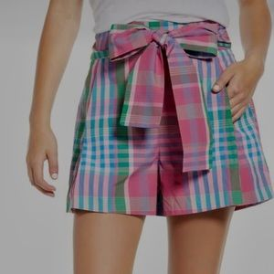 J. Crew plaid tie-waist shorts